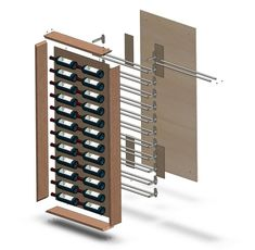 Diy Wine Rack Designs With The Unique And Trendy Styles - Diyever Wine Rack Wall, Wine Wall, Wine Racks, Wine Rack Inspiration, Wine Rack Design, Wine Tasting Notes, Ikea Hackers, Cheap Wine, Wine Cabinets