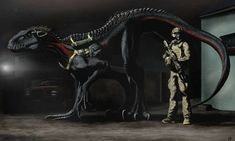 Brothers In Arms.And Claws Solo by RandomAsRandom on DeviantArt Jurassic World Fallen Kingdom, Jurassic Park World, Dinosaur Funny, Dinosaur Art, Magical Creatures, Fantasy Creatures, Jurassic Park Poster, Dinosaur Sketch, Jurrassic Park