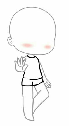 I gonna try my pin later Anime Drawing Styles, Drawing Anime Clothes, Anime Drawings Sketches, Kawaii Drawings, Easy Drawings, Chibi Body, Chibi Sketch, Drawing Body Poses, Drawing Reference Poses