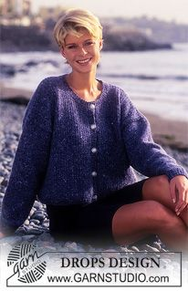 Free knitting patterns and crochet patterns by DROPS Design Sweater Knitting Patterns, Cardigan Pattern, Easy Knitting, Drops Design, Tweed, Magazine Drops, Cardigans For Women, Alpacas, Knitwear