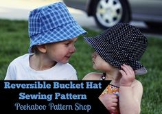 Reversible Bucket Hat PDF Sewing Pattern - Peekaboo Pattern Shop