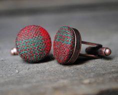 Vintage Woollen Cufflinks