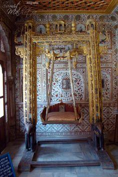 #Exquisite #Jhoola used at #Janamashtami, #Krishna, #JunagarhFort, #Bikaner, #Rajasthan
