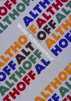 Althoff - Winter-Schlussverkauf - 28. Januar 1963 bis 9. Februar 1963-Plakat