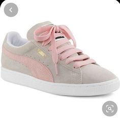 Puma Sneakers, Red Sneakers, Classic Sneakers, Sneakers Fashion, Fashion Shoes, Sneakers Style, Shoes Style, Casual Shoes, Grey Shoes