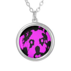 Customizable Pink/Black Shih Tzu Puppy Small Round Necklace on sale at www.zazzle.com/misseysphotography*