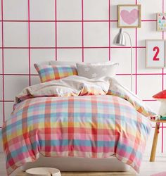 cottonbox - bed linen :: Quilt Cover Sets, kids bed linen, Duvet Cover Sets, Buy bed linen, quilt sets, comforter, bed linen Australia - Kelsea Candy Quilt Cover Set by Marie Claire Mini
