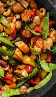 Chicken Kung Pao. I need to convert this to vegetarian. Looks delicious