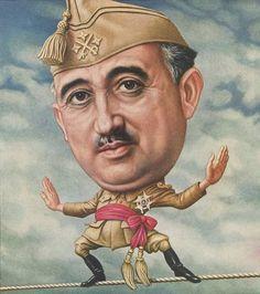 Generalissimo Francisco Franco 1946 TIME cover art by Boris Artzybasheff