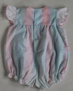 Vintage 80s Baby Togs Pastel Girl Ruffle Sunsuit by CattyBritches