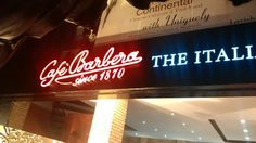 Café Barbera: The ever growing Coffee establishments of Lahore scene has a new entrant opening its doors to patrons on Mahmood Ali Kasuri road at 4 p. Barista, Continents, Espresso, Dubai, Things To Come, Menu, Neon Signs, Italy, Cold