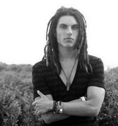 Samuel Larsen... normally I'm totally grossed out by dreads but he works them and looks Good doing so
