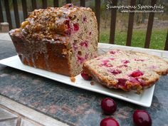 Spiced Cranberry Rum Bread with Walnuts