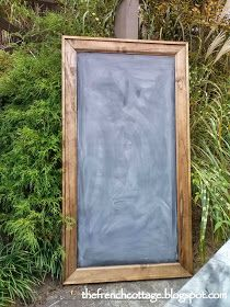 The French Cottage: Restoration Hardware Chalkboard Knockoff