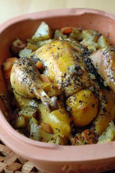 Poulet au four en Romertopf (cocotte en terre cuite) raymondmarmiton - raymondcuisine