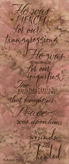 Prophet Isaiah 53:5 Jesus's sacrifice