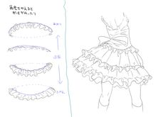 how to draw ruffles | nicoception how to draw dresses skirts bonnets hands and cuffs by ume ...