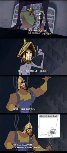 Classic Cartoons Breaking The Fourth Wall. Got a plot point you can't explain? Then don't 😛 Gotta love the Emperor's New Groove Funny Gaming Memes, Funny Games, Nerd Memes, Disney Memes, Disney Quotes, For Honour Game, Cartoon Logic, Breaking The Fourth Wall, Funny Duck