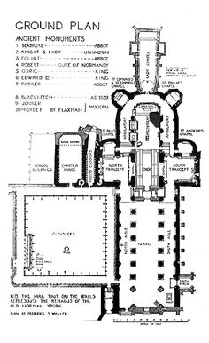 Plans of Medieval Gloucester Cathedral Anglican Cathedral, Cathedral Church, Renaissance Architecture, Church Architecture, Ribbed Vault, Theatrical Scenery, Gloucester Cathedral, Church Design, Built Environment