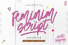 Feminim Script + Bonus from FontBundles.net