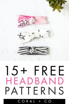 15  Amazing Free Headband Sewing Patterns and Tutorials to Make Use your scraps to sew these awesome beginner friendly headband sewing patterns. #sewing #beginnersewing #kidsewing Sewing Headbands, Diy Baby Headbands, Fabric Headbands, Diy Headband, Baby Bows, Baby Sewing Projects, Sewing Patterns For Kids, Sewing For Kids, Sewing Tips