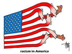 racism in USA © Arend Van Dam,politicalcartoons.com,racism, extremists, KKK, Ku Klux Klan, extreme right, USA, blacks, black people