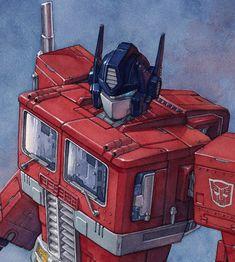 ArtStation - Optimus Prime Watercolor, Hector Trunnec Transformers Bumblebee, Transformers Optimus Prime, Animation Reference, Watercolor Illustration, Cool Artwork, Comic Art, Cool Stuff, Slipknot