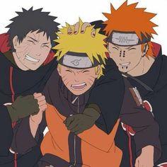 Obito uchiha , naruto uzumaki y yahiko uzumaki. Pain Naruto, Naruto And Sasuke, Gaara, Itachi, Naruto Uzumaki, Naruto Fan Art, Naruto Cute, Naruhina, Akatsuki