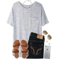 ~find me where the Wild Things are~ by twaayy on Polyvore featuring rag & bone/JEAN, Hollister Co., Aéropostale, Kendra Scott, Charlotte Russe and Ray-Ban