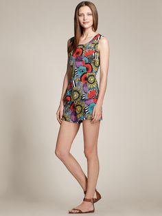 Perfect peplum top + Hampton Short co-ord for warm summer days.   Banana Republic x Marimekko hits stores May 22