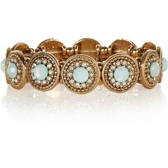 Accessorize Ruchi Circle Stretch Bracelet ($23) ❤ liked on Polyvore featuring jewelry, bracelets, stretch jewelry, accessorize jewellery, stretchy bracelet, bracelet bangle and circle bracelet
