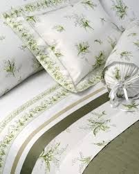lily of the valley border - Google otsing MUGHETTI bedding (lilies of the valley) by Dea - fresh green and white bedding for Spring 2014.
