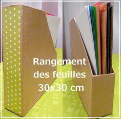 chez steph ça scrap: Tuto - Rangement des feuilles 30 x 30cm façon range revue (compatible bibliothèque expédit)
