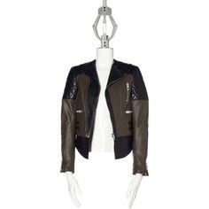 Militaire/black Balenciaga Quilted New Biker Jacket