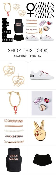 """""""grl pwr"""" by kressida ❤ liked on Polyvore featuring Forever 21, Alison Lou, Charlotte Russe, Express, womensHistoryMonth, pressforprogress and GirlPride"""
