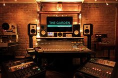 The Garden in Brooklyn. You can tell which studios are in Brooklyn and which are in LA or elsewhere because a lot of Brooklyn rooms have bare brick like this and have tons of vibe. Lots of bigger studios are too sterile and boring.