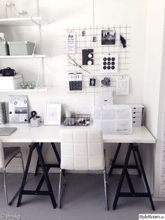 3 062 inspirerande bilder och idéer på do-it-yourself Home Office Design, House Design, Small Space Office, College Room, Glam Room, Space Interiors, Home And Living, Room Inspiration, Decoration