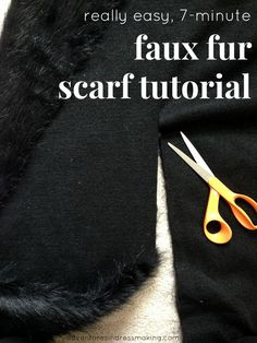 Adventures in Dressmaking: Really easy, 7-minute faux fur scarf tutorial