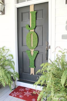 With just a few wooden letters strung up on your front door, you can spread Christmas cheer to your neighbors in an instant. The moss mountings also add a fresh, earthy component that will subtly contrast with the dreary winter lawns.