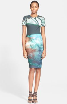 McQ by Alexander McQueen Haze Print Body-Con Dress available at #Nordstrom