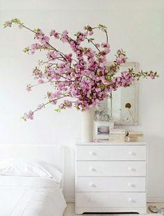 Branches de cerisier dans une vase