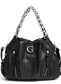 Guess chelsea satchel bag black
