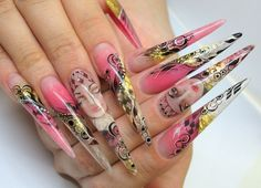 25 Beautiful Acrylic Nail Art Designs | TutorialChip