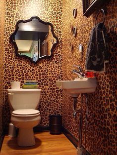 Cheetah bathroom