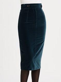Burberry Prorsum - Velvet Pencil Skirt