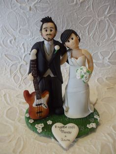 deposit Personalized bride and groom with guitar by Abracadabrakr, $45.00