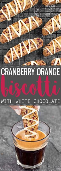 These crunchy Cranberry Orange Biscotti drizzled with white chocolate make a delightful and delicious holiday gift!  via /easyasapplepie/