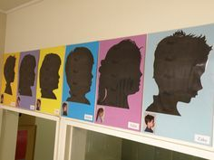 Silhouettes.  These would be great for the children's portfolios or as an end of year gift.  Full instruction at Irresistable Ideas for play Based Learnning.