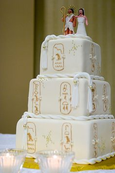 Perfect Egyptian Themed Wedding Cake by Charm City Cakes photo