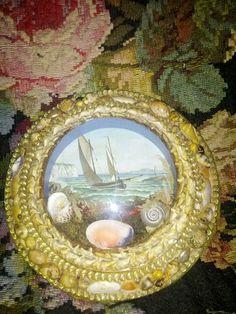 Sailors Valentine Large Shell Diorama Poss White Cliffs of Dover | eBay